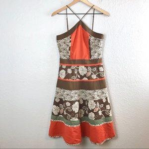BCBG MaxAzria Floral Aztec Print Dress